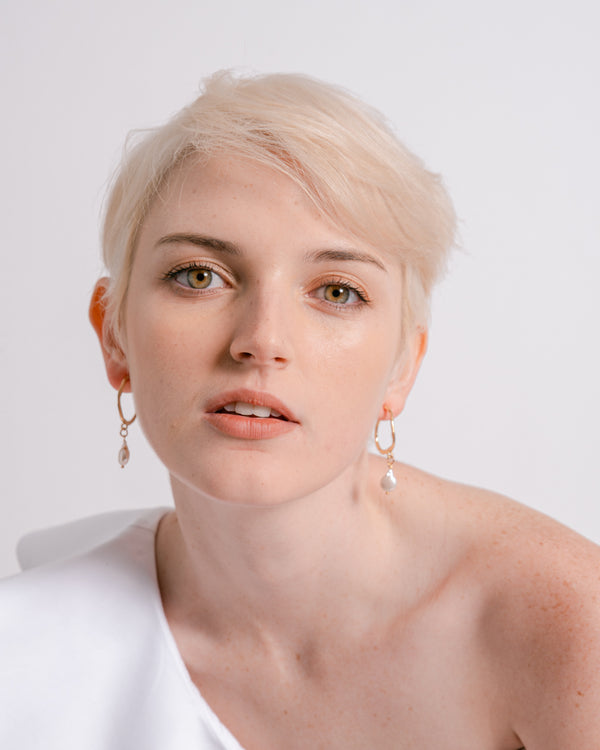 Cara Pearl Drop Earrings