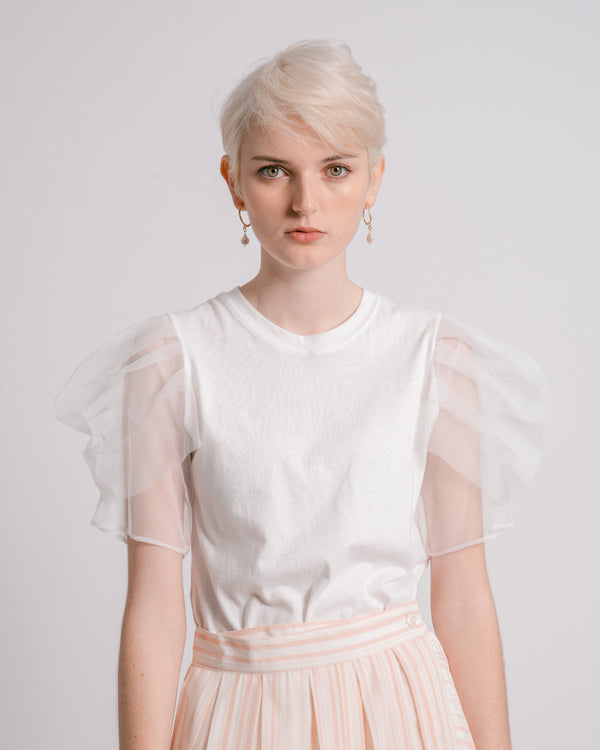 White Tulle Top