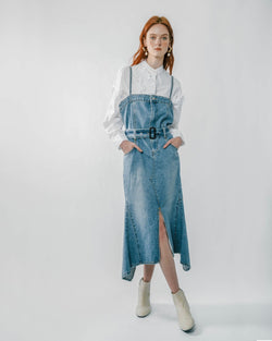 Blue Denim Midi Dress
