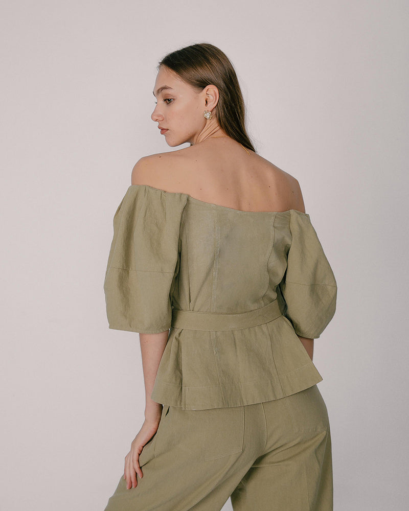 Sage Off-Shoulder Top