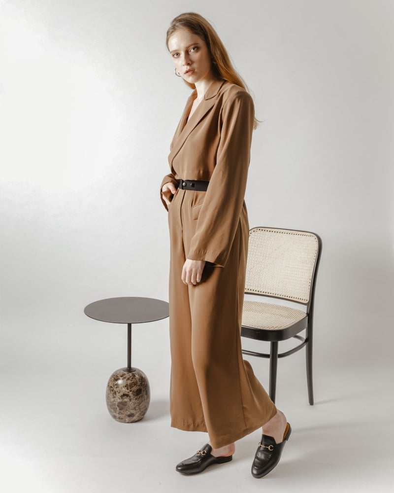 Copper Blazer Jumpsuit