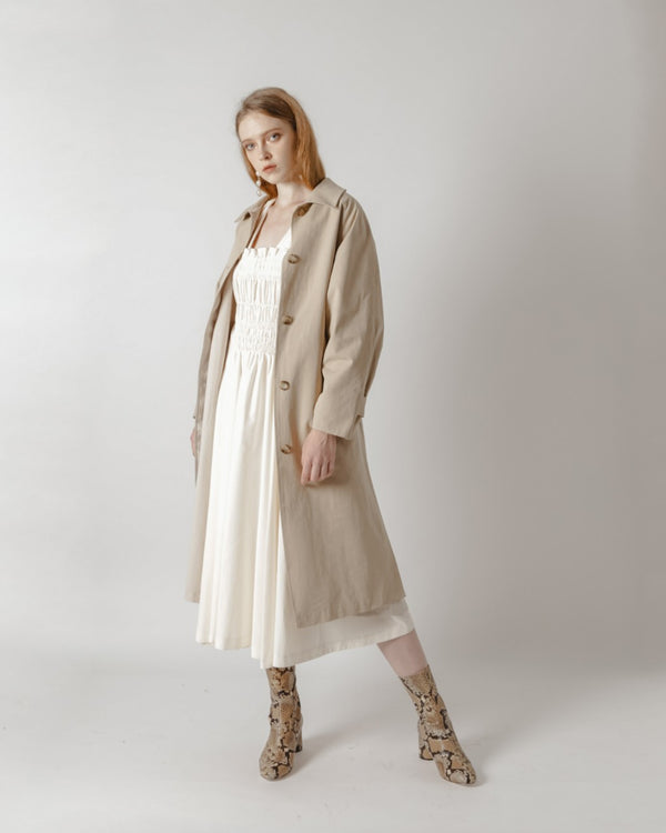 Khaki & Beige Trench Coat