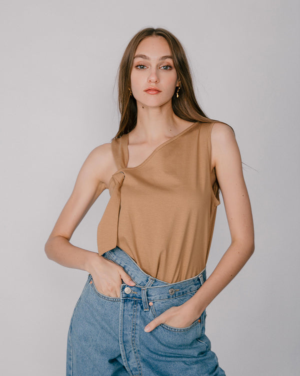 Tobacco Knotted Top