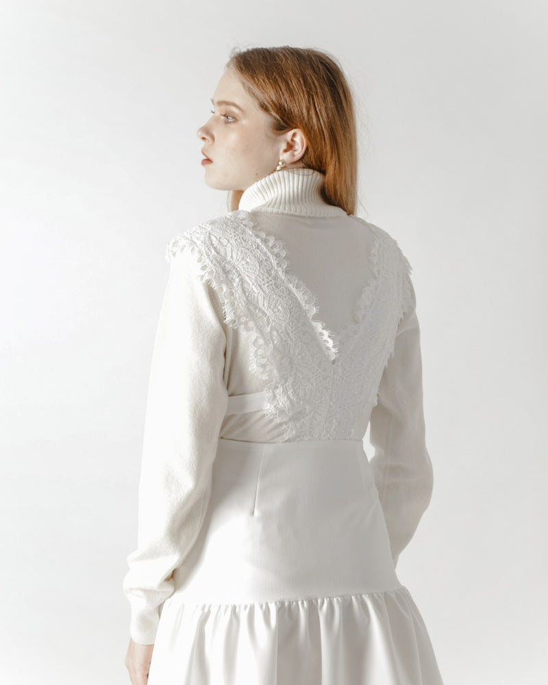 White Lace Pinafore Dress