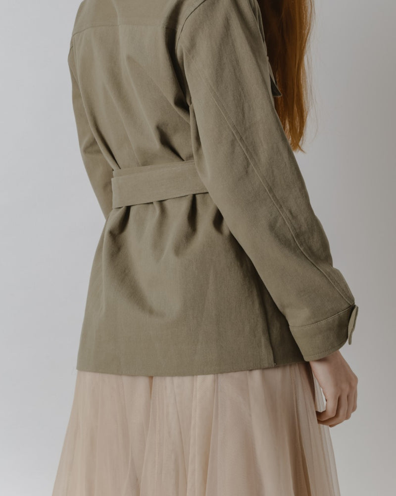 Olive Green Safari Jacket