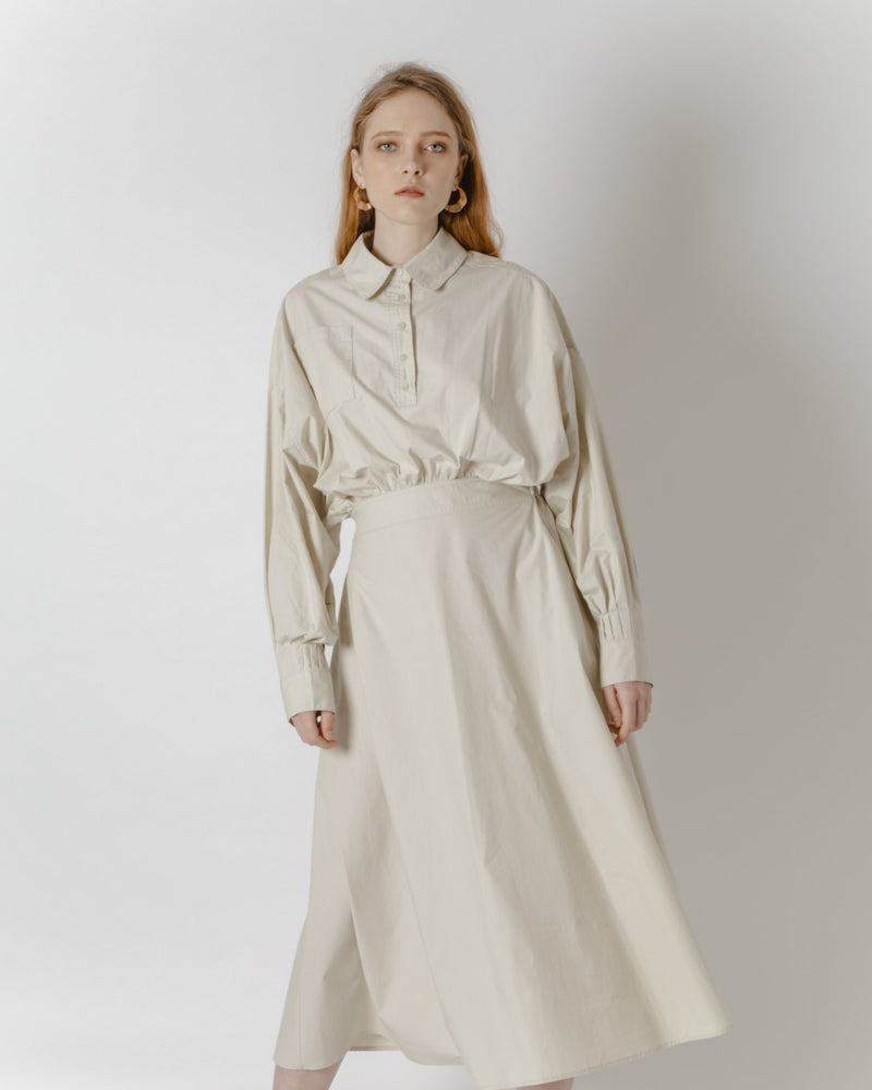 Ecru Shirt Dress