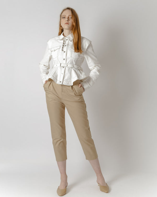 High-Waisted Khaki Pants