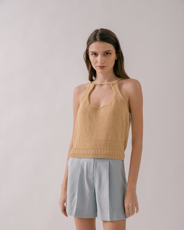 Maize Knit Cropped Top