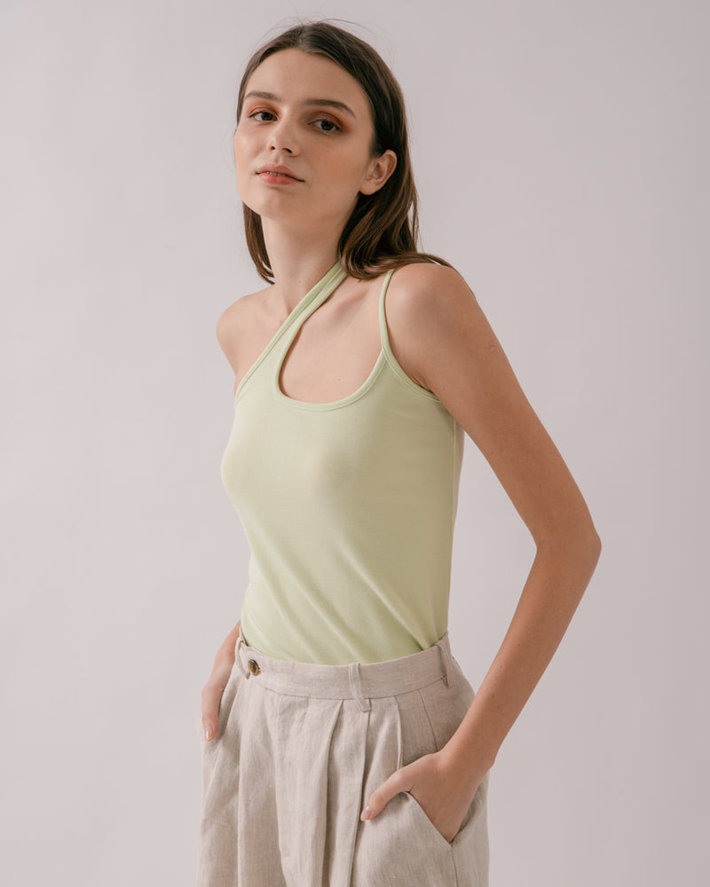 Lime Asymmetric Tank Top