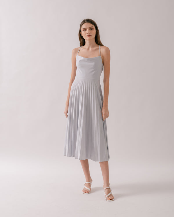 Dove Grey Open Back Ballerina Dress