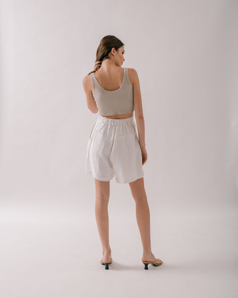 Oyster Cropped Tank Top