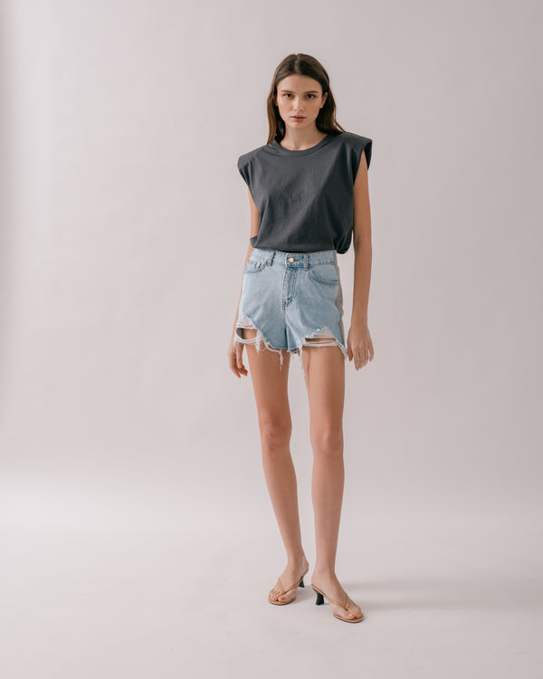 Denim Jersey Shorts
