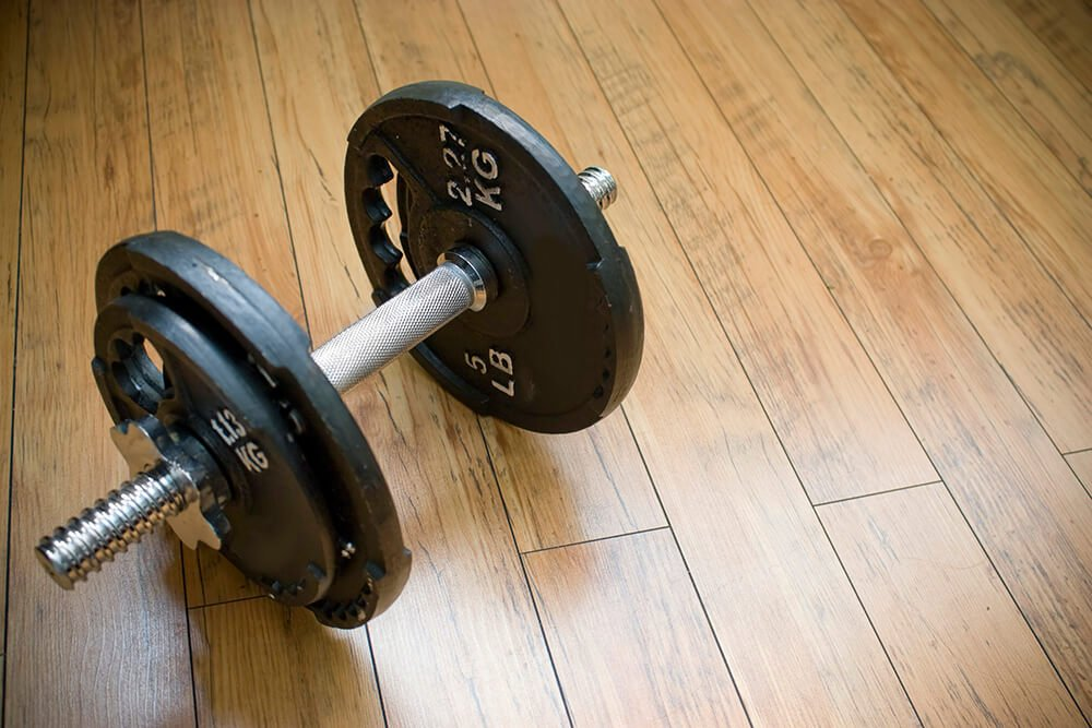 dumbbell-on-floor
