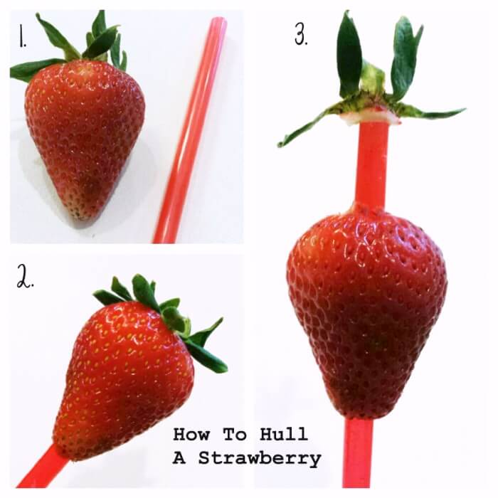 How to core a strawberry