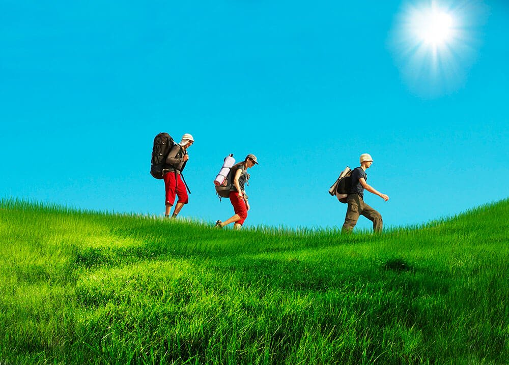 hikers-in-grass