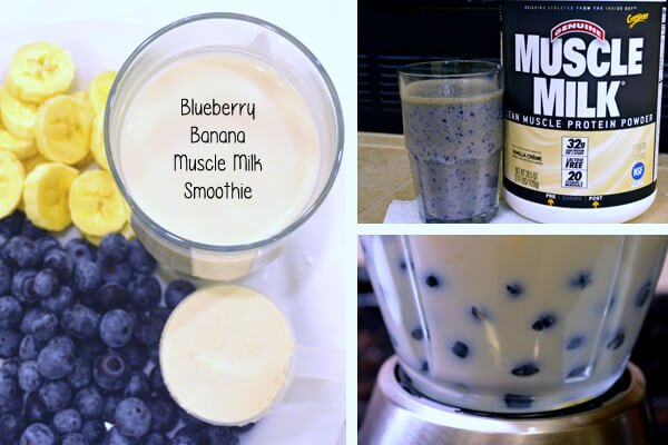 Muscle Milk Recipes: Blueberry Banana Smoothie