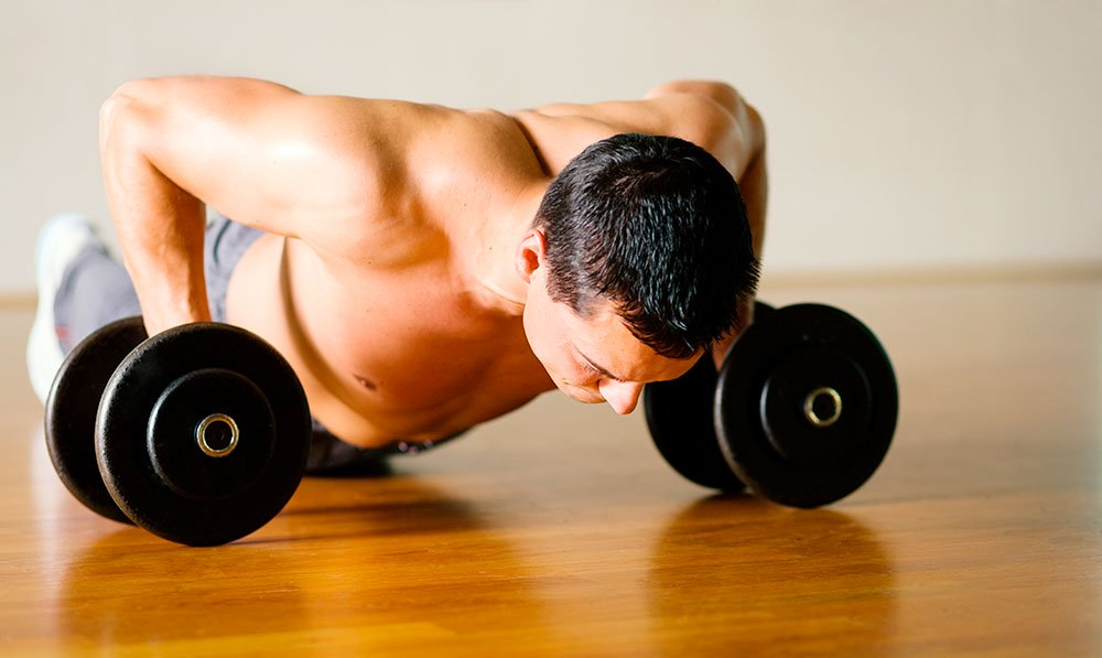 push-up-with-weights
