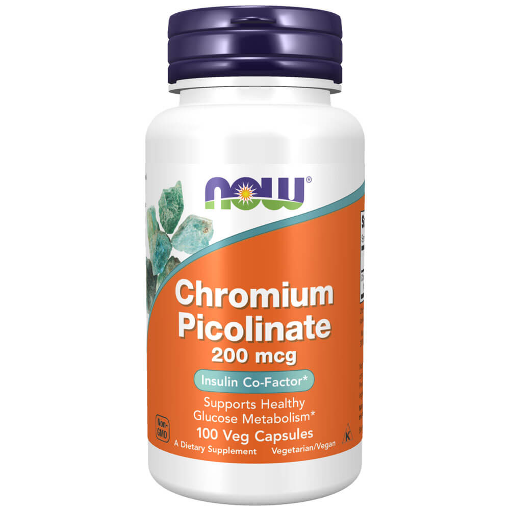 NOW Chromium Picolinate 200 mcg (100 veg capsules)