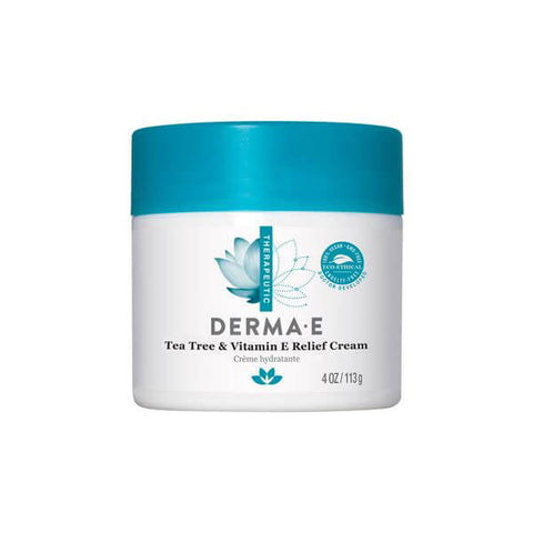 Derma E Tea Tree & Vitamin E Relief Creme (4 oz)