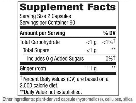 Nature's Way Ginger Root (180 capsules)