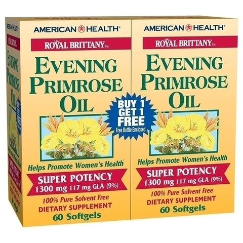 American Health Royal Brittany Evening Primrose Oil 1300mg (twin pack)