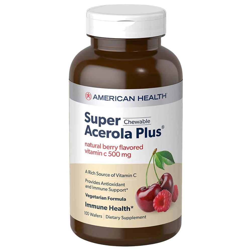 American Health Super Acerola Plus 500mg (100 wafers)