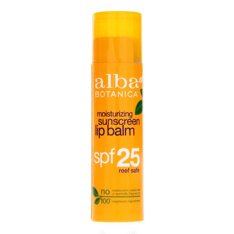 Alba Botanica Moisturizing Sunscreen Lip Balm SPF25 (0.15 oz)