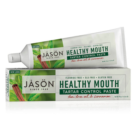 Jason Healthy Mouth Tartar Control Paste - Tea Tree Oil & Cinnamon (4.2 oz)