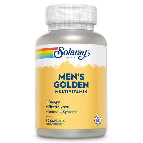 Solaray Men's Golden Multivitamin (90 capsules)