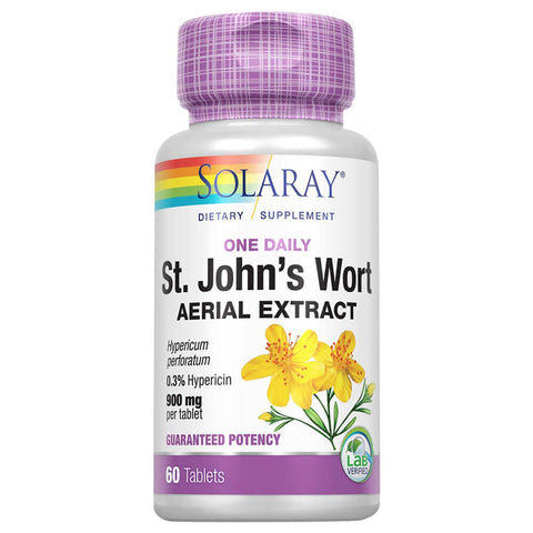 Solaray St. John's Wort Aerial Extract (60 tablets)