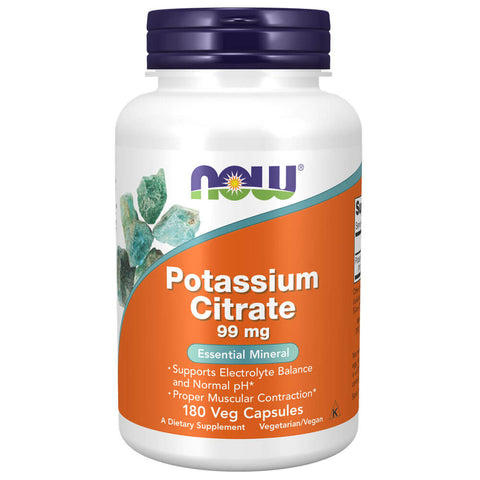 NOW Potassium Citrate 99mg (180 veg capsules)