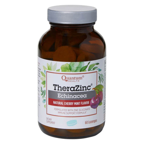 Quantum Health TheraZinc Echinacea - Cherry Mint (48 lozenges)