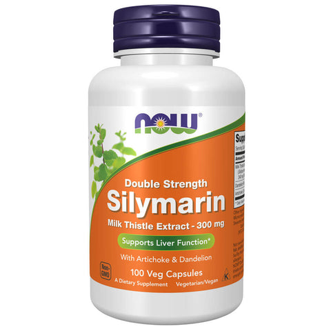 NOW Double Strength Silymarin Milk Thistle Extract 300mg (100 capsules)