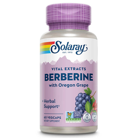 Solaray Berberine Root Extract, Advanced Formula (60 capsules)