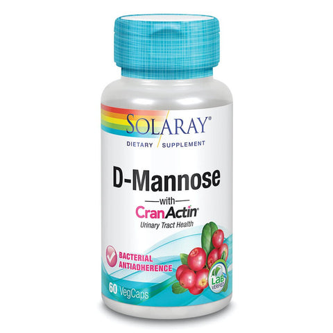 Solaray D-Mannose with CranActin Cranberry Extract (60 capsules)