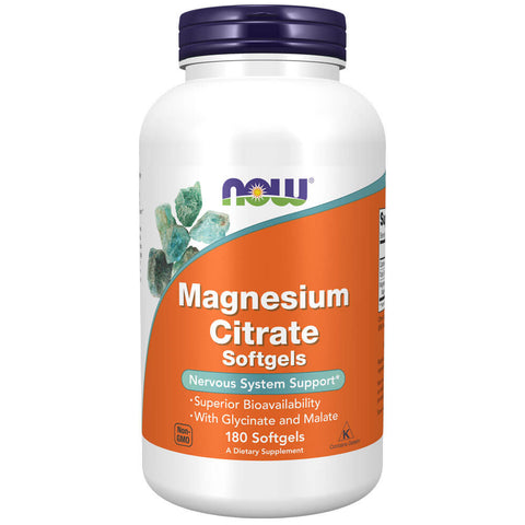 NOW Magnesium Citrate (180 softgels)