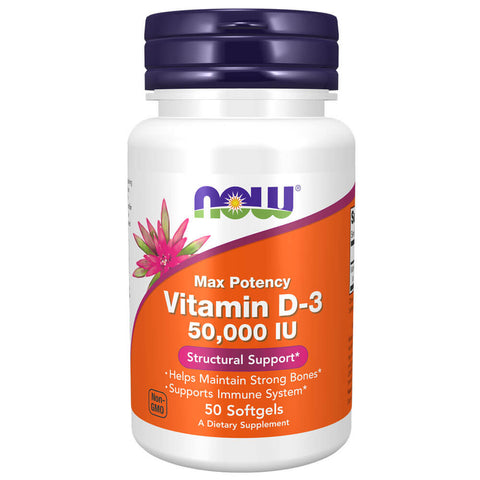 NOW Vitamin D-3 50,000 IU (50 softgels)