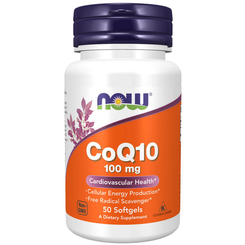 NOW CoQ10 100mg (50 softgels)