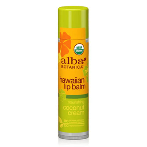 Alba Botanica Hawaiian Lip Balm - Coconut Cream (0.15 oz)