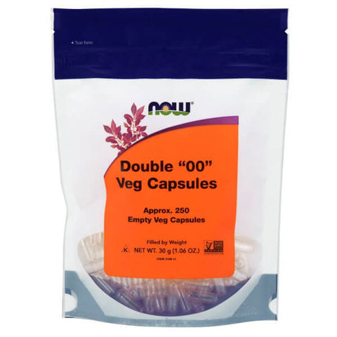"NOW Empty Veg Capsules, Double ""00"" (250 capsules)"