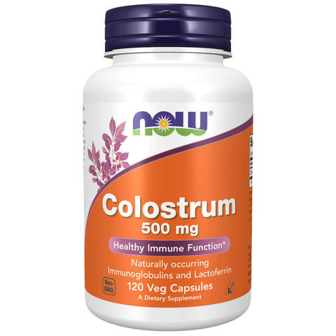 NOW Colostrum 500mg (120 veg capsules)