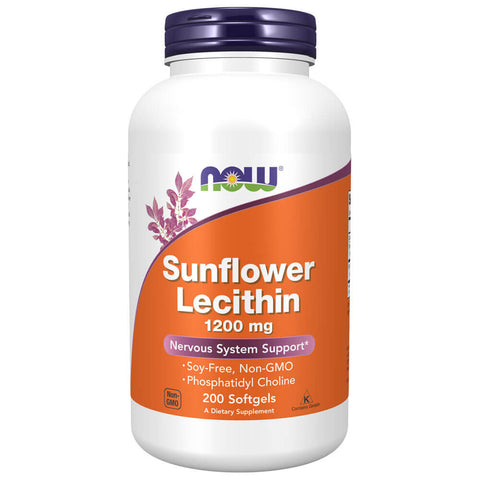 NOW Sunflower Lecithin 1200mg (200 softgels)