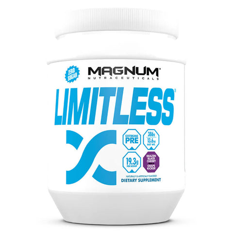 Magnum Limitless Extreme Pre-Workout - Brazen Black Cherry (20 servings)