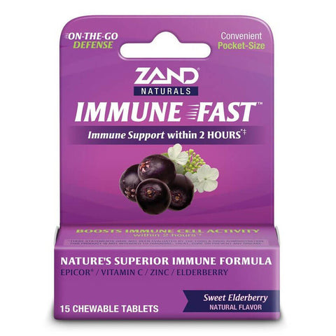 Zand Immune Fast - Sweet Elderberry (15 tablets)