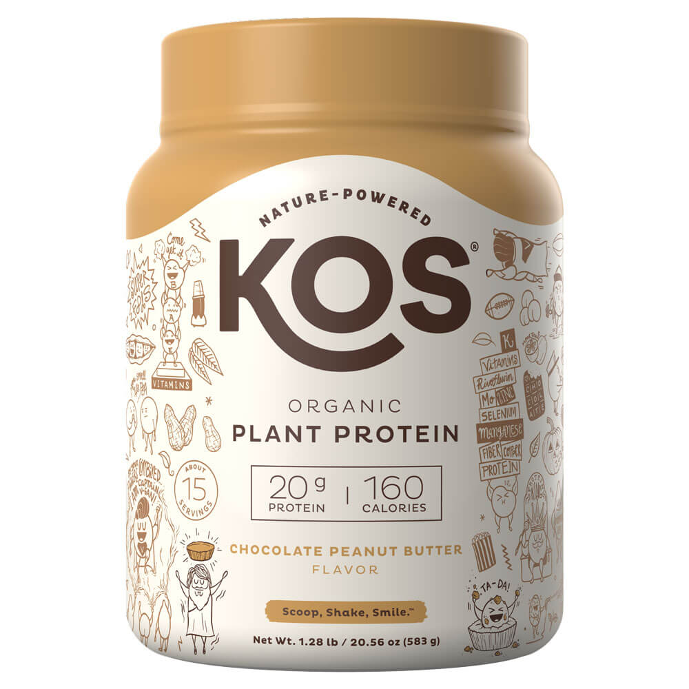 KOS Organic Plant Protein - Chocolate Peanut Butter (1.3 lbs)