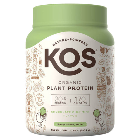 KOS Organic Plant Protein - Chocolate Chip Mint (1.3 lbs)