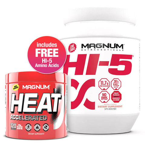 Magnum Lean Muscle Stack (Heat Accelerated + FREE Hi-5 Fruit Punch)