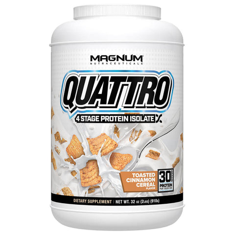 Magnum Quattro Protein - Toasted Cinnamon Cereal (2 lbs)