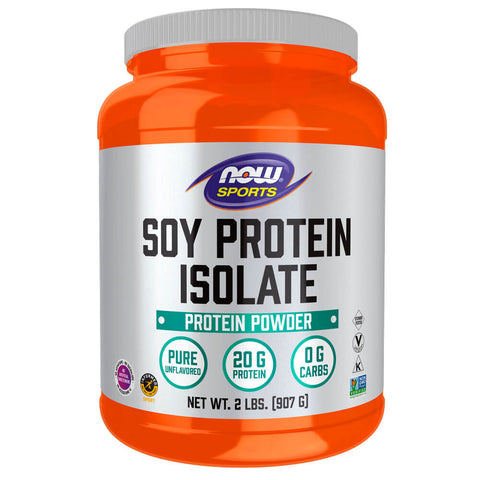 NOW Sports Soy Protein Isolate - Unflavored (2 lb)