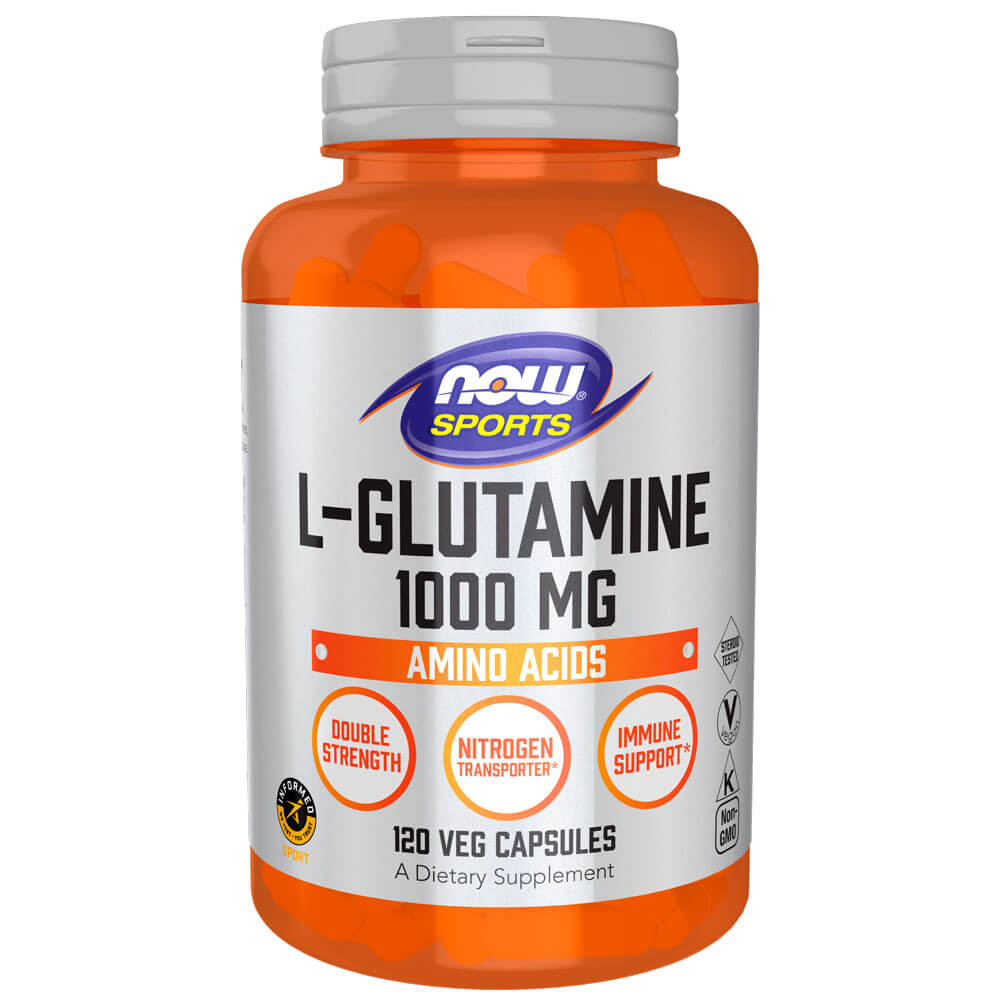 NOW Sports L-Glutamine 1000 mg (120 caps)